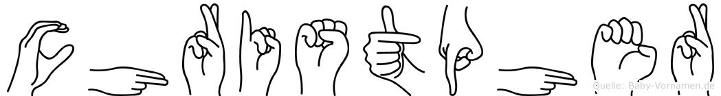 Christpher im Fingeralphabet der Deutschen Gebärdensprache