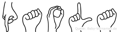 Paola in Fingersprache für Gehörlose