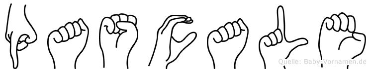 Pascale im Fingeralphabet der Deutschen Gebärdensprache