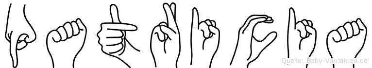 Patricia in Fingersprache für Gehörlose