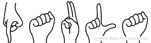 Paula in Fingersprache für Gehörlose