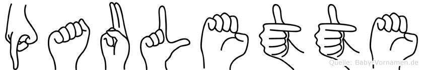 Paulette im Fingeralphabet der Deutschen Gebärdensprache