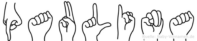 Paulina in Fingersprache für Gehörlose
