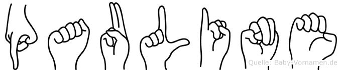 Pauline in Fingersprache für Gehörlose