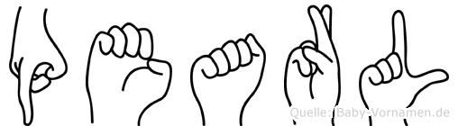 Pearl in Fingersprache für Gehörlose
