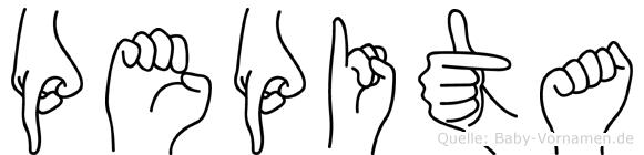 Pepita in Fingersprache für Gehörlose