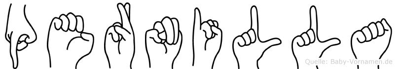 Pernilla in Fingersprache für Gehörlose