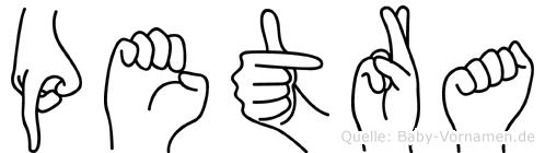 Petra in Fingersprache für Gehörlose