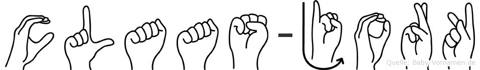 Claas-Jork im Fingeralphabet der Deutschen Gebärdensprache