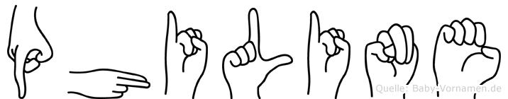 Philine in Fingersprache für Gehörlose