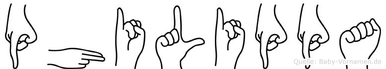 Philippa in Fingersprache für Gehörlose