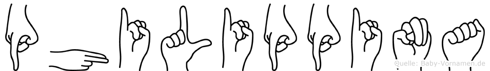 Philippina im Fingeralphabet der Deutschen Gebärdensprache