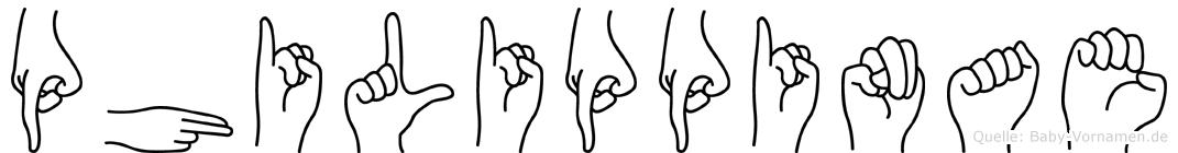 Philippinae in Fingersprache für Gehörlose
