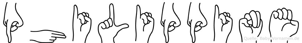 Philippine in Fingersprache für Gehörlose