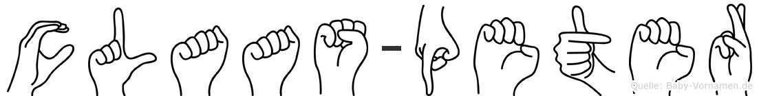 Claas-Peter im Fingeralphabet der Deutschen Gebärdensprache