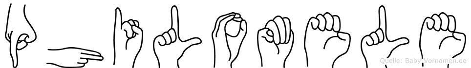 Philomele in Fingersprache für Gehörlose