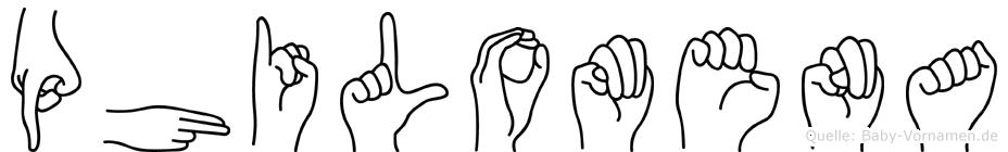 Philomena im Fingeralphabet der Deutschen Gebärdensprache