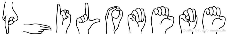 Philomene in Fingersprache für Gehörlose