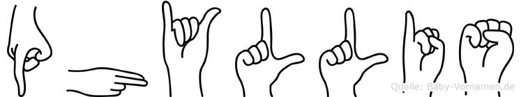 Phyllis in Fingersprache für Gehörlose