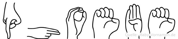 Phoebe in Fingersprache für Gehörlose