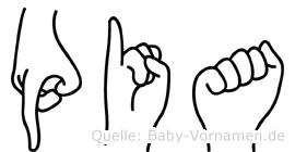 Pia in Fingersprache für Gehörlose