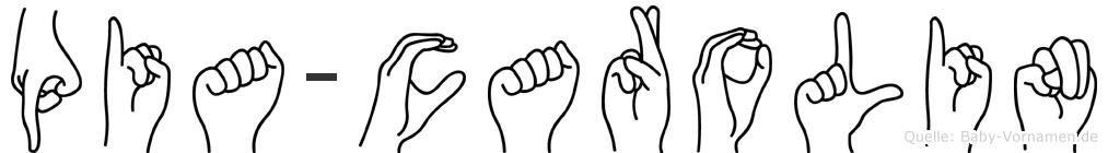 Pia-Carolin im Fingeralphabet der Deutschen Gebärdensprache