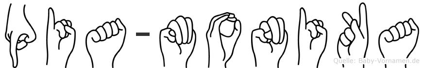 Pia-Monika im Fingeralphabet der Deutschen Gebärdensprache