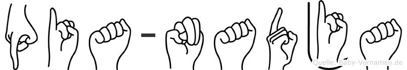 Pia-Nadja im Fingeralphabet der Deutschen Gebärdensprache