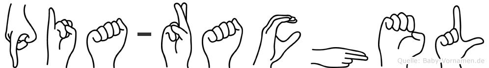 Pia-Rachel im Fingeralphabet der Deutschen Gebärdensprache