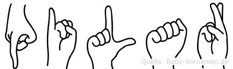 Pilar in Fingersprache für Gehörlose