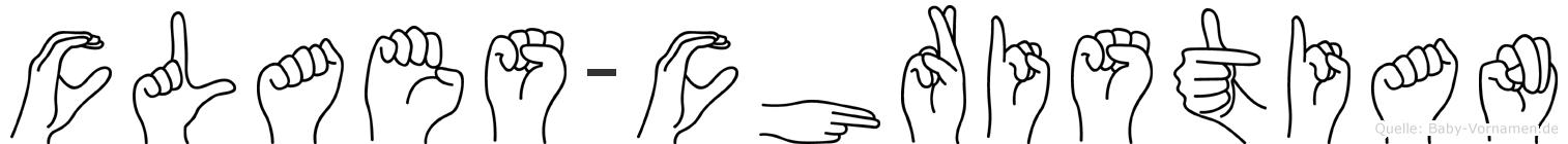 Claes-Christian im Fingeralphabet der Deutschen Gebärdensprache