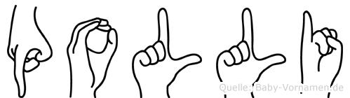 Polli in Fingersprache für Gehörlose