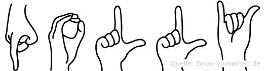 Polly in Fingersprache für Gehörlose