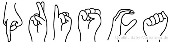 Prisca in Fingersprache für Gehörlose
