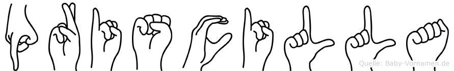Priscilla in Fingersprache für Gehörlose