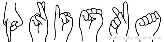 Priska in Fingersprache für Gehörlose