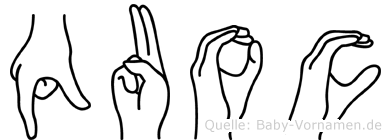 Quoc im Fingeralphabet der Deutschen Gebärdensprache