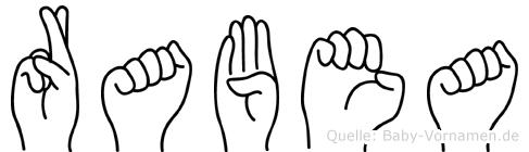 Rabea im Fingeralphabet der Deutschen Gebärdensprache