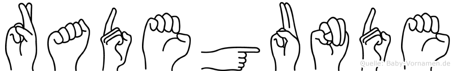 Radegunde in Fingersprache für Gehörlose