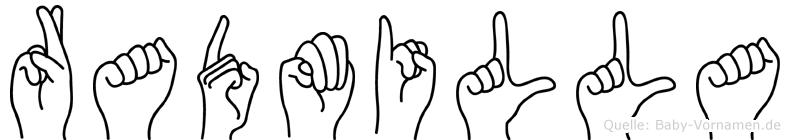 Radmilla in Fingersprache für Gehörlose