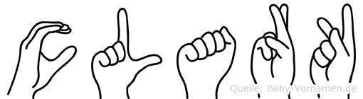 Clark in Fingersprache für Gehörlose