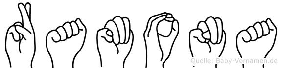 Ramona in Fingersprache für Gehörlose