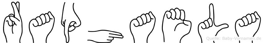 Raphaela im Fingeralphabet der Deutschen Gebärdensprache