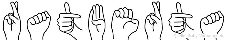 Ratberta im Fingeralphabet der Deutschen Gebärdensprache