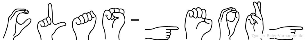 Clas-Georg im Fingeralphabet der Deutschen Gebärdensprache
