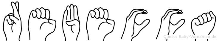 Rebecca in Fingersprache für Gehörlose
