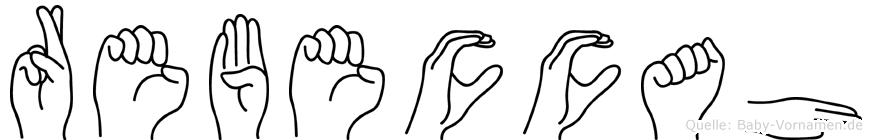 Rebeccah in Fingersprache für Gehörlose