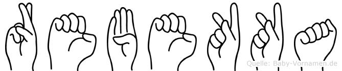 Rebekka im Fingeralphabet der Deutschen Gebärdensprache
