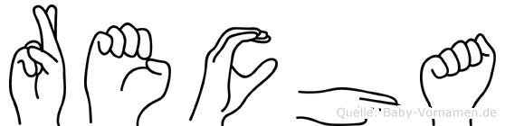 Recha im Fingeralphabet der Deutschen Gebärdensprache