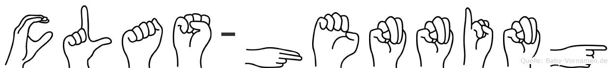 Clas-Henning im Fingeralphabet der Deutschen Gebärdensprache